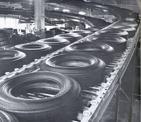 Historic photo General Tire production 1950s,
